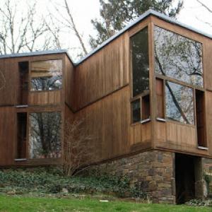تصویر - خانه ماهیگیر ( FISHER HOUSE ) , اثر لویی کان ( Louis Kahn ) , آمریکا - معماری