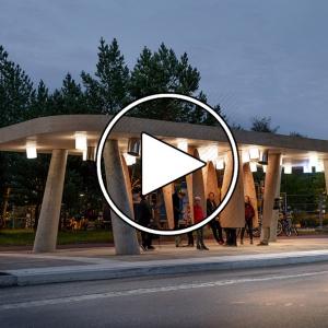 عکس - ایستگاه اتوبوس Arctic , اثر استودیو طراحی Rombout Frieling Lab , سوئد