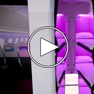 عکس - طراحی فضای خواب در پروازهای اقتصادی هواپیمایی ایر نیوزیلند