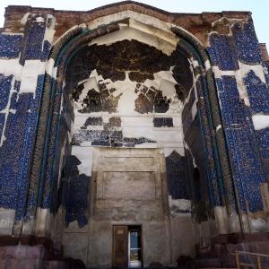 عکس - مرمت مسجد کبود تبریز با هدف احیای مجموعه مظفریه