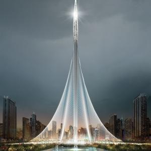 تصویر - برج کریک دبی ( Dubai Creek Tower ) , اثر سانتیاگو کالاتراوا , امارات - معماری
