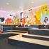 عکس - نگاهی به طراحی داخلی یک بستنی فروشی در شیکاگو