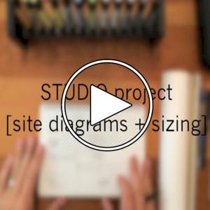 عکس - طراحی در یک استودیو کوچک , قسمت دوم : دیاگرام های سایت ( Site Diagrams )