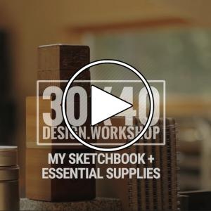 عکس - دفترچه اسکیس ( Sketchbook ) , ابزار طراحی معماران