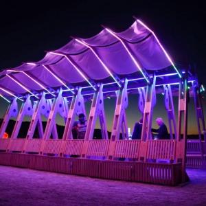 عکس - اینستالیشن sail-like canopy , اثر Wevolve Labs , آمریکا , ایالت نوادا