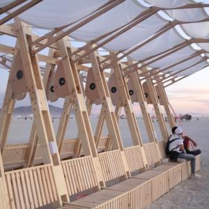 تصویر - اینستالیشن sail-like canopy , اثر Wevolve Labs , آمریکا , ایالت نوادا - معماری