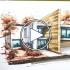 عکس - اسکیس و راندو یک خانه , توسط Ariel Brindis  ( با محصولات برند Spectrum Noir )