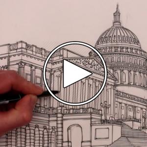 تصویر - آموزش ترسیم : ساختمان کنگره ایالاتمتحده آمریکا - معماری