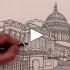 عکس - آموزش ترسیم : ساختمان کنگره ایالاتمتحده آمریکا