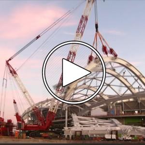 تصویر - استادیوم SoFi , تایم لپس 2016-2020 (پیشرفت فیزیکی 85 درصد) - معماری