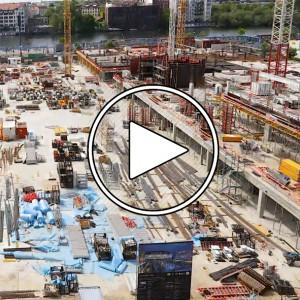 تصویر - تایپ لپس ساخت Bauarbeiten Mercedes Platz (مرسدس بنز آرنا) ؛ سال 2017 - معماری