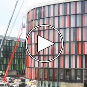 عکس - مستند ساخت دفاتر اداری Cologne Oval Offices ، اثر Sauerbruch Hutton ، آلمان