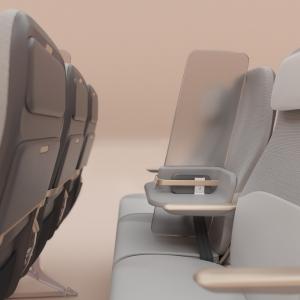 عکس - ایده ای برای طرح فاصله گذاری اجتماعی در هواپیما