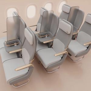 تصویر - ایده ای برای طرح فاصله گذاری اجتماعی در هواپیما - معماری