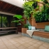 عکس - طراحی باغ مینیاتوری زیبا در یک حیاط کوچک