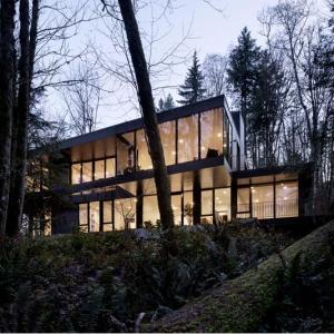 تصویر - خانه مدرن جنگلی Oregon , اثر William-Kaven Architecture , آمریکا - معماری