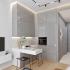 عکس - طراحی آشپزخانه ای کوچک در مسکو روسیه
