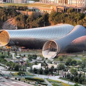 عکس - پارک Rhike ،سالن تئاتر موزیکال و تالار نمایشگاهی ،کاری از استودیو Fuksas،تفلیس گرجستان