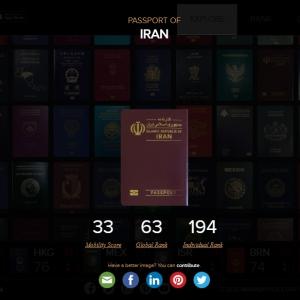 عکس - سقوط گذرنامه ایرانی به جایگاه ششمین گذرنامه کم اعتبار جهان