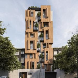 تصویر - ساختمان مسکونی ادن , اثر دفتر معماری آوات , مشهد - معماری