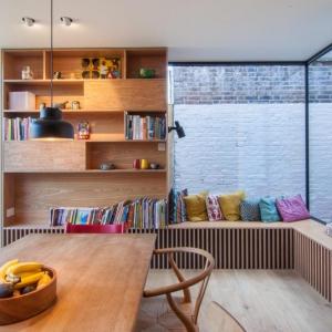 عکس -  پیشروی این خانه و ایجاد فضای مطالعه ای دلچسب