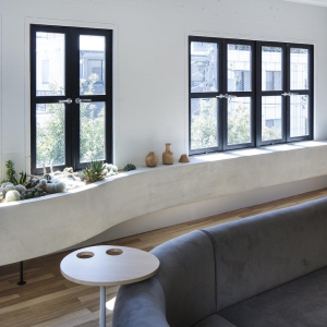 عکس - طراحی باغچه کوچک کاکتوس جایگزین سایر گیاهان آپارتمانی