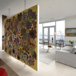 تصویر -  طراحی پارتیشن معلق هنری و خلاقانه در آپارتمانی در تورنتو - معماری
