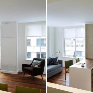عکس - میز غذاخوری تاشو ،ایده ای خلاقانه برای استفاده مفید از فضا