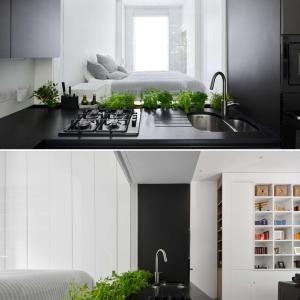 تصویر - طراحی متفاوت دیوار بین کابینت در این آشپزخانه - معماری