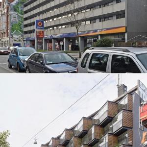 تصویر - قبل و بعد-تغییر نمای آپارتمان با استفاده از بالکن های کوچک پوشیده  - معماری
