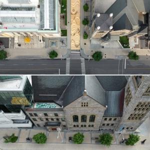 تصویر - نقاشی دیواری بزرگ و خلاقانه در مونترال - معماری