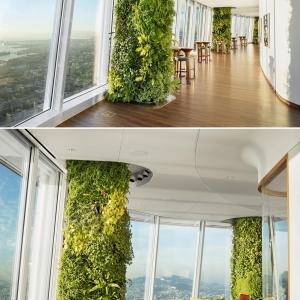 تصویر - ستونهایی که به المانهایی سبز تبدیل شده اند. - معماری