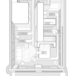 تصویر - اقامتگاهی مجلل در بزرگترین کشتی کروز تفریحی،کاری از Michael K Chen  - معماری