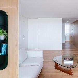 عکس - طراحی قابل توجه طبقات و شلف ها در آپارتمانی در اسپانیا