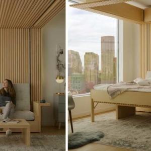 عکس - طراحی تخت خواب خلاقانه،راه حلی برای آپارتمانهای کوچک