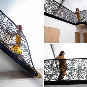 عکس - طراحی نرده با الهام از ساختار سلولی
