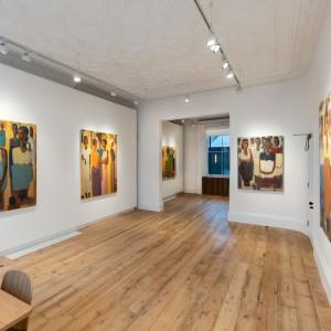 تصویر - نمایش آثار دو هنرمند آفریقایی و آسیایی در لندن , فیگورهای انتزاعی برگرفته از تاریخ زندگی - معماری