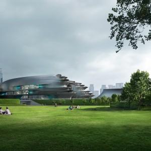 تصویر - موزه علم و فناوری , اثر تیم طراحی زاها حدید (Zaha Hadid Architects) , چین - معماری