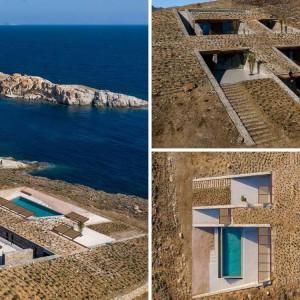 عکس - خانه تقریبا نامرئی واقع در دامنه کوهی در جزیره Serifos یونان