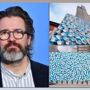 تصویر -  اینستالیشن دیواره موج اتمسفر ، اثر اولافور الیاسون (Olafur Eliasson) , آمریکا - معماری