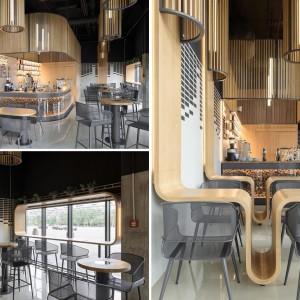 عکس - طراحی میزهای خاص کافه رستورانی واقع در کی یف اوکراین