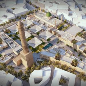 عکس - بازسازی مسجد تاریخی جامع نوری موصل توسط معماران مصری