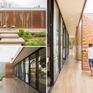 تصویر - ایجاد کریدور نیمه باز توسط صفحات فلزی خانه ای در ویتنام - معماری