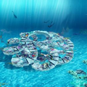 عکس - پارک مجسمه های زیر آب (underwater sculpture park) , اثر تیم طراحی OMA , آمریکا