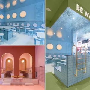 عکس - طراحی داخلی رستورانی  در ایتالیا ،با الهام از فضای استخر