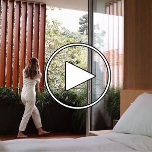 عکس - خانه Vertical Courtyard House ، اثر تیم طراحی Montalba Architects , دره سانتا مونیکا