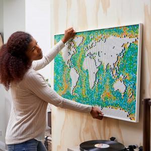 عکس - رونمایی شرکت LEGO از نقشه جهان،مجموعه ای با 11695 قطعه