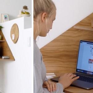 تصویر - میز کنج مناسب فضاهای کوچک - معماری
