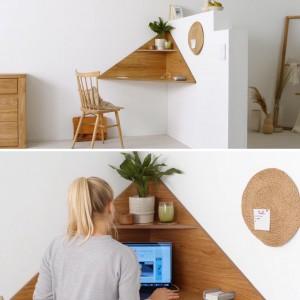 عکس - میز کنج مناسب فضاهای کوچک