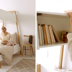 تصویر - طراحی خاص تخت خواب برای داشتن فضای بیشتر در اتاق - معماری